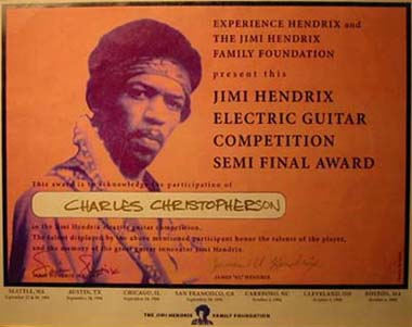Hendrix Foundation Certificate